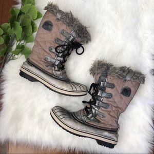 Sorel Joan Of Arctic Waterproof Fur Boots Lace Up